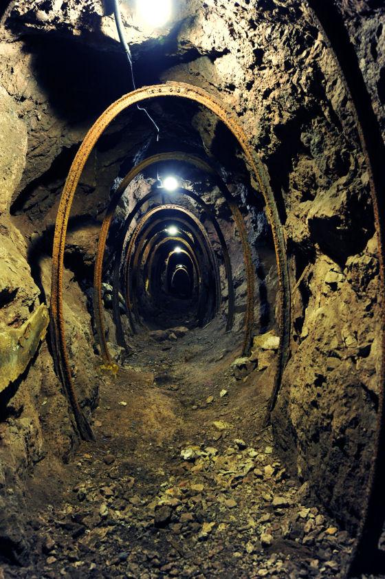 Montecatini, all'interno della miniera
