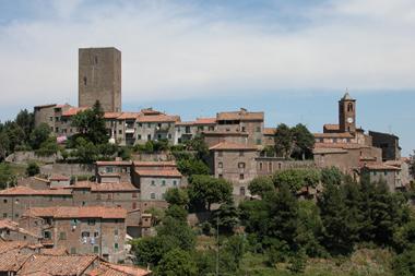 Fotografia Panoramica di Montecatini Val di Cecina